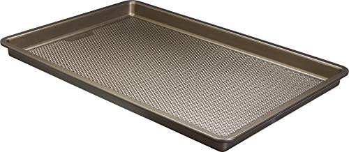 Good Cook 5506 Aluminized Steel, Diamond-Infused Non-Stick Coated Textured Bakeware, Medium Cookie Sheet, champagne pewter
