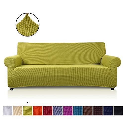 VanderHome 2 Plaza Funda de sofá Cubiertas de sofá Slipcover de sofá Protector de Muebles Resistencia al Deslizamiento Super Stretch Resistente al Desgaste Guardapolvo, Verde Claro
