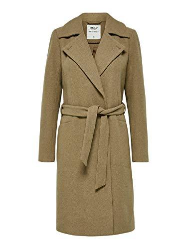 Only Onlnayla Rianna Wool Coat CC Otw Abrigo, Marrón (Camel Camel), 44 (Talla del fabricante: X-Large) para Mujer
