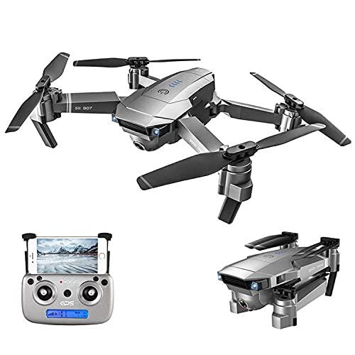 Dron WiFi FPV con cámara HD Gran Angular 4K Video en Vivo y posicionamiento satelital GPS, cuadricóptero de retención de altitud, Modo sin Cabeza, sígueme, Bolsa de Transporte