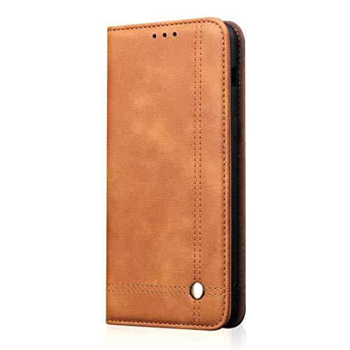 Caso For el caso de Xiaomi Mi 8 Lite, Funda de negocios retro Flip Flip Folio Wallet Funda de cuero magnética protectora con ranuras for tarjetas, soporte de soporte teléfono del shell
