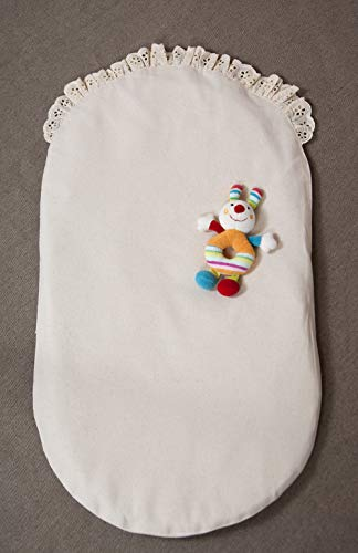 Home of Wool Montessori Topponcino and Slip-Off Cover, 100% Natural Infant Security Lounger, Newborn Sleep Pillow - 100% Cotton