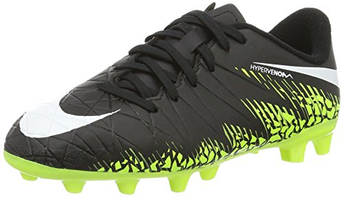 Nike 856460-017, Botas de fútbol Niño, Negro (Black/White/Volt/Paramount Blue), 32 EU