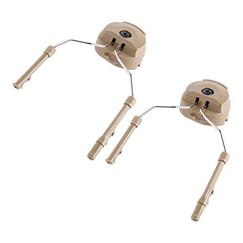 Tbest Arc Rail Adapter, 2 Pcs Adaptador de Riel de Casco Helmet Rail Adapter Adaptador de Carril de Casco Táctico Rápido ARC Adaptador de Riel de Auriculares para Peltor ACH MICH IBH