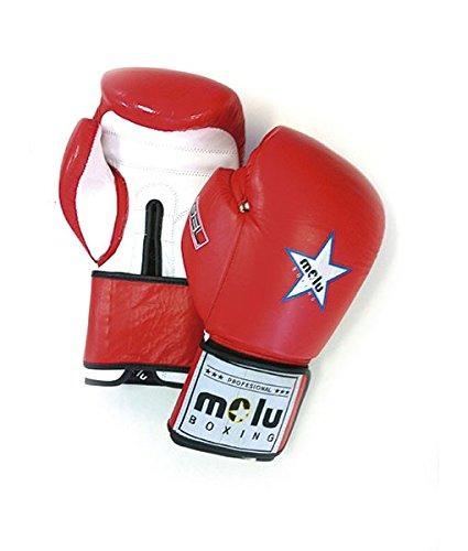 MoluBoxing - Guante Piel Star Azteca Gel, 14 onzas, Color: Rojo