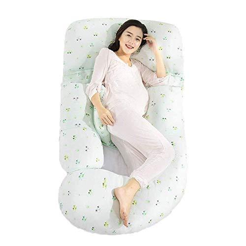 SMSOM Almohada de Embarazo en casa, Almohada de Maternidad de Almohada de Cuerpo Completo para Mujeres Embarazadas, Cofre de Cofre con Cobertura en Forma de U con Cubierta de Jersey Lavable removible