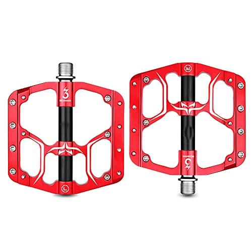 XGLIPQ Accesorios antideslizantes de aleación de aluminio Pedales de bicicleta de montaña, Pedales de bicicleta con cojinetes sellados, Accesorios para montar de pedales antideslizantes ligeros de ale