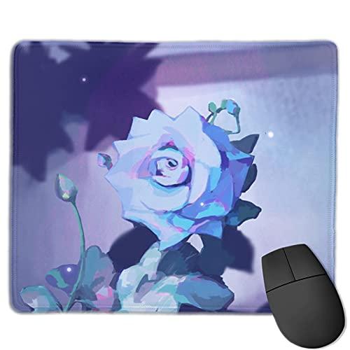 Alfombrilla de ratón para juegos de flores de pintura al óleo, alfombrilla de ratón rectangular personalizada, almohadilla de ratón de goma antideslizante impresa cómoda para computadora