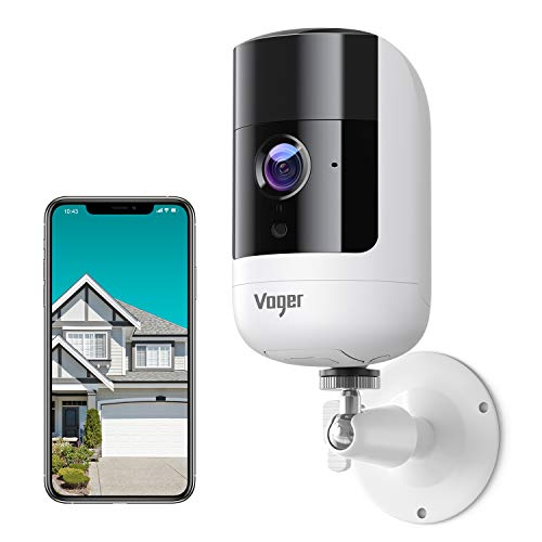 Security Camera Outdoor, Voger 1080P Wireless Rechargeable Battery Powered Security Camera with Dual PIR Motion Detection, Night Vision and Two-Way Audio