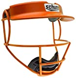 Schutt V1 Youth Fielder's Guard Softball Face Mask for Fast Pitch Softball, Burnt Orange, Youth