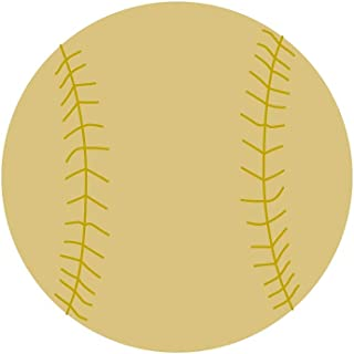 Detailed Baseball Cutout Unfinished Wood Baseball Softball Sports MLB Major Little League MDF Shape Canvas Style 1 (6