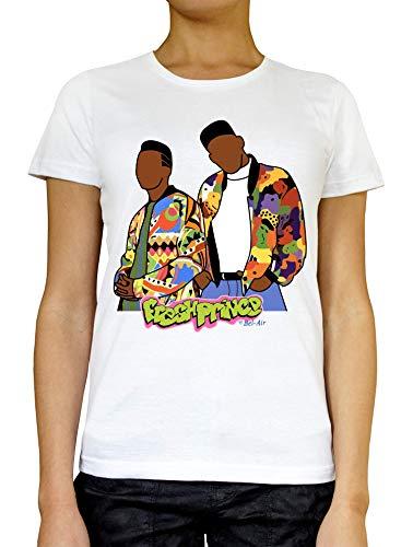 Fresh Prince vrouwen T-shirt wit grijs zwart