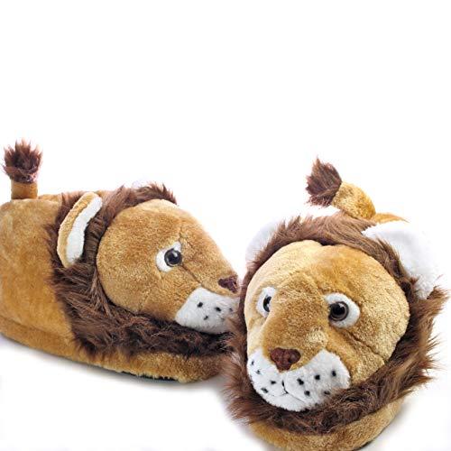 Sleeper'z - Löwe Tierhausschuhe Erwachsene und Kinder - 33/35 (S)