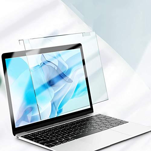WLWLEO Protector de Pantalla Anti luz Azul para portátil de 12-17' Película Protectora de instalación Colgante Panel Protector de acrílico para la computadora de la Oficina de la PC,12'300×195mm