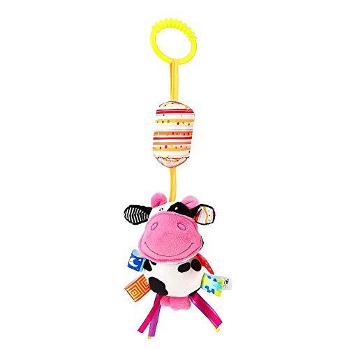 Juguete Colgante de Cuna Durable, Juguete Colgante de Cama de bebé, Forma Animal Suave para Asiento de Carro portabebés(Cows)