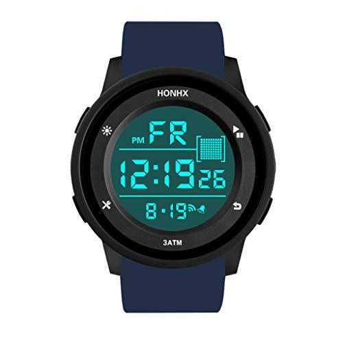 Moda Relojes Hombre Elegante Barato Impermeable Hombre Boy LCD Digital CronóMetro Fecha Reloj De Pulsera Deportivo De Goma