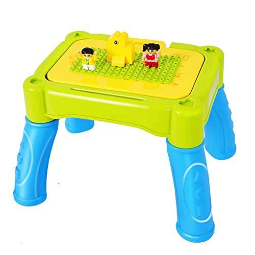 Renovierungshaus-Bau-Aktivitäts-Tisch Multifunktionaler Lern-Bautisch Drei in einem Lern-Zeichnungs-Spieltisch Jungen-Mädchen-Spielzeug-Studientisch Grüner Multifunktionstisch (Color : Green Size :