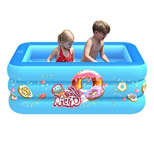 AIHOME Piscina familiar, piscina rectangular para niños, piscina inflable rectangular familiar, fácil de montar, 2/3 capa