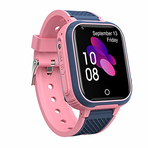 LT21 reloj inteligente para niños con GPS, monitor de videollamadas 4G teléfono localización, IP67 impermeable pantalla táctil WiFi Bluetooth reloj de pulsera para estudiantes