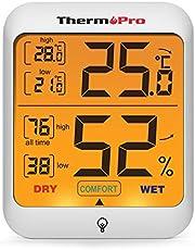 ThermoPro TP53 Termometro Igrometro Interno Misuratore di Umidità e Temperatura Ambiente Digitale Termoigrometro Professionale per Casa con Tocca Retroilluminazione