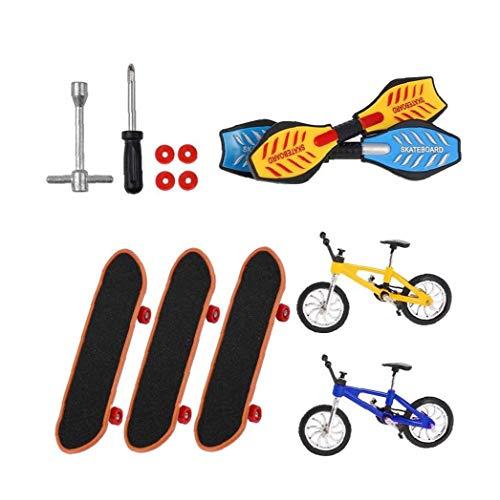 ZYCX123 Mini Dedo Juguetes Set Finger Bicicletas Patinetas Finger oscilación Tiny Junta Dedo Regalo de Juguetes 18pieces