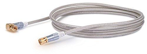 SCHWAIGER -9550- Satellitenkabel 3 m 110dB / 90° Winkel-Stecker/HDTV Antennen-Kabel/SAT-Kabel 75 Ohm/Koaxial-Kabel/TV-Kabel / 4-Fach geschirmt/robuste Vollmetallstecker/DVB-S, DVB-S2