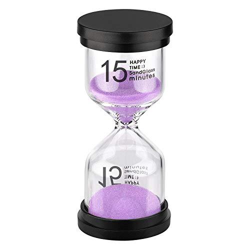 KSMA Sand Timer 15 Minute Hourglass Timer,Colorful Sandglass Timer for...