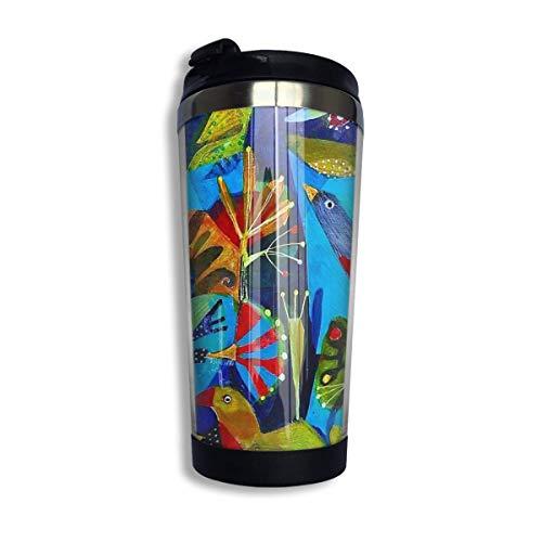 vfrtg Taza de viaje de vaso de acero inoxidable Bright Garden. Insulated Vacuum Stainless Steel Tumbler Cup 13.5oz Coffee Travel Mug