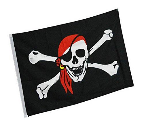 ACMEDE - Drapeau Tête de Mort Croisé Flag De Pirate 150x90 cm pour Halloween Party Decoration Ecole Bar Pub
