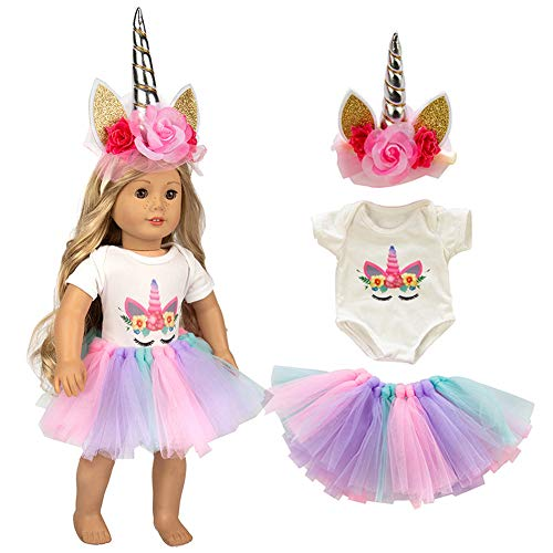 Unicorn Clothes Headband fits all 18 inch dolls like American Girls doll , Accessories doll clothes great gift for little and big girls | Accessories Outfits, My Life Girls Doll Clothes Baby Journey