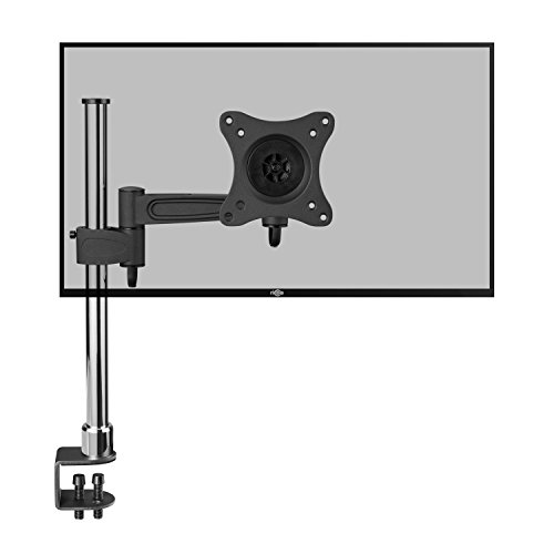 RICOO Soporte Monitor de Mesa Escritorio con mordaza para Pantallas PC de Ordenador TS2211 para televisores Brazo Colgante Inclinable y Giratorio 3D OLED LED LCD Plasma 4K Curvo VESA 100x100