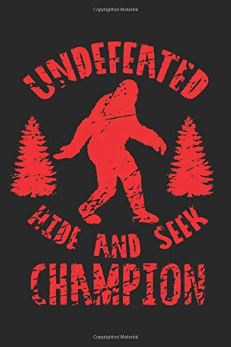 Undefeated Hide And Seek Champion: Blank Lined Notebook Journal