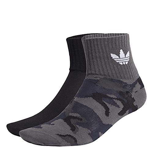 adidas Camo Mid Ankle Socks Socken 2er Pack (L, grey/camo, l)