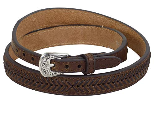 MF Western Hutband Leder Laced Brown