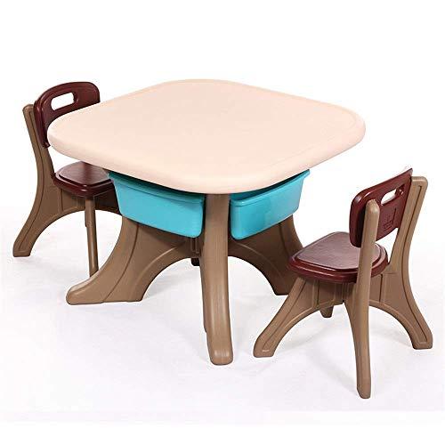 Decoración de muebles Juego de escritorio y silla para niños Juego de mesa y silla de plástico para niños Mesa y silla de estudio para bebés Mesa de juguete para niños Una mesa y dos sillas para ja