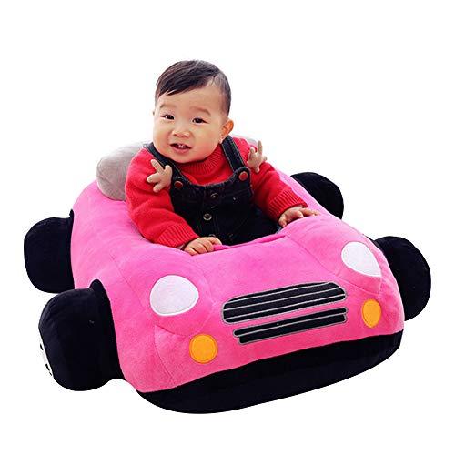 FCFLXJ Baby Plüsch Stützsitz, bequemer Kindersofa Sicherheitssitz, geeignet für Babys von 1-16 Monaten, Lernsitz Schaukelstuhl Geschenk,Rosa