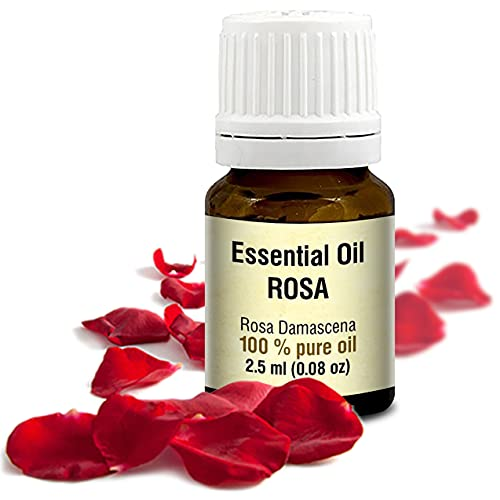 Rosenöl 2,5ml - Rosa Damascena Bulgarisch - 100{49a3f8b72f788af446d0114f735adc4e2c5728fec644f6f3f55c5e80c3d892a8} Ätherisches Rose Öl - Besten für Beauty - Wellness - Schönheit - Aromatherapie - Duftlampen - Raumduft - Aphrodisiakum - Rosen Öl