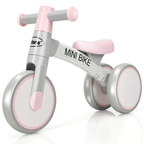 COSTWAY Kinder Laufrad, Balance Fahrrad, Balance Bike, Kinderlaufrad, Lauflernrad, Dreirad ohne Pedal für Kinder von 1-3 Jahre (Rosa)