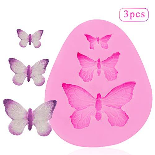 Rolin Roly Silikonform Schmetterlinge Fondant Dekoration Gießform 3D Backform Kuchen Dekorieren Werkzeuge DIY Silikon Backen Fondant Formen