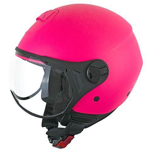 casco moto donna rosa CGM Casco demi jet visiera sagomata