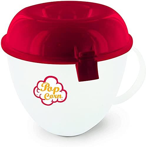 Contenitore per Cuocere PopCorn nel Microonde di plastica 17 x 16 x 13 cm Ciotola con coperchio cottura pop corn cottura salutare Pratico e Veloce