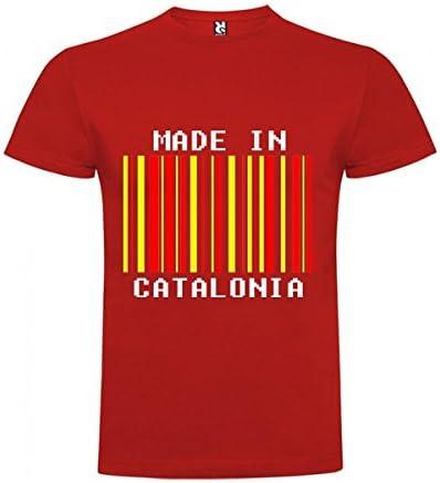 Camiseta Catalunya Made in Catalonia Manga Corta Hombre