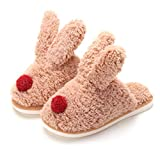 <span class='highlight'><span class='highlight'>CNZXCO</span></span> 111, 2 pair bunny slippers for women cartoon rabbit ears home indoor cotton slippers women's shoes warm cotton slippers (Color : Red, Size : 40-41)