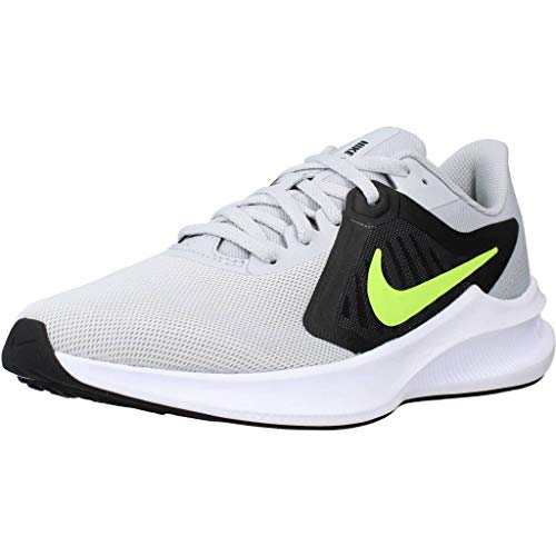 Nike Downshifter 10, Chaussure de Course Homme, Grey Fog/Volt-Black-White, 41 EU