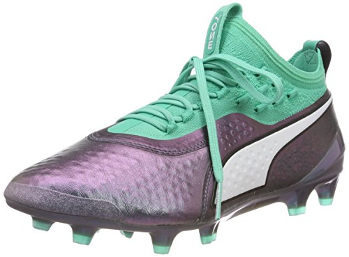 Puma One 1 Il Lth FG/AG, Scarpe da Calcio Uomo, Viola (Color Shift-Biscay Green White Black), 39 EU