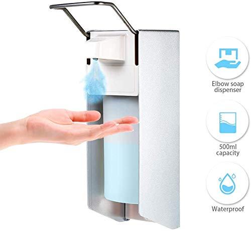 caijiacanna 500ml | Desinfektionsmittelspender mit frustriertem Pumpenmechanismus Einfacher Seifenspender zur Wandmontage - Effektiver Desinfektionsspender