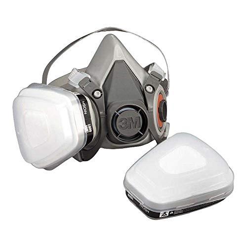 3M Mehrweg-Halbmaske 6100 (Maskenkörper ohne Filter), Größe S, Atemschutz, 1 Stück