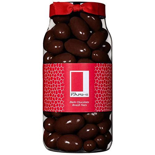 Photo of Rita Farhi Dark Chocolate Covered Brazil Nuts in a Gift Jar | Vegetarian and Chocolate Gift – Chocolate Coated Nuts – 740 g