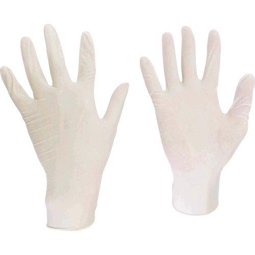 ミドリ安全 極薄伸縮 やわらか 使い捨て 天然ゴム手袋 ベルテ610N 粉なし S 100枚