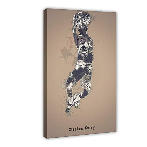 Stephen Curry Legend - Póster de estrella de baloncesto activa, póster creativo en lienzo para decoración de sala de estar, dormitorio, marco de 20 x 30 cm